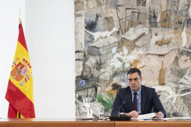 El presidente del Gobierno, Pedro Sánchez, este sábado en la reunión del Comité Científico de la Covid-19.MONCLOA / EUROPA PRES