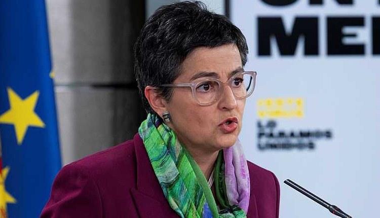 """Министр иностранных дел Аранча Гонсалес Лайя  / La ministra de Asuntos Exteriores, Arancha González Laya, ha asegurado que Turquía """"en las próximas horas va a permitir la salida"""" de los 150 respiradores que fueron retenidos en el país"""