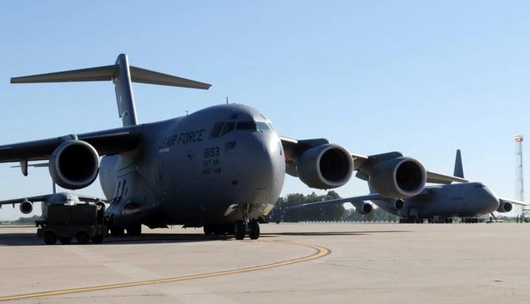10 военных грузовых самолетов США переброшены на базу в Испанию